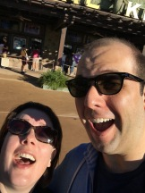 First selfie of the trip, first park of the trip! Animal Kingdom here we come.