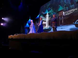 The Frozen singalong is our favorite show and we sing along, aloudly!